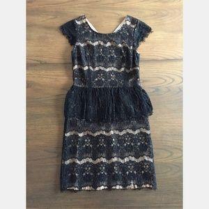 Anthropologie Maeve Black Elsa Peplum Dress